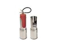 Suporte Extintor - SOLO BASE REDONDA AÇO INOX/ALUMINIO